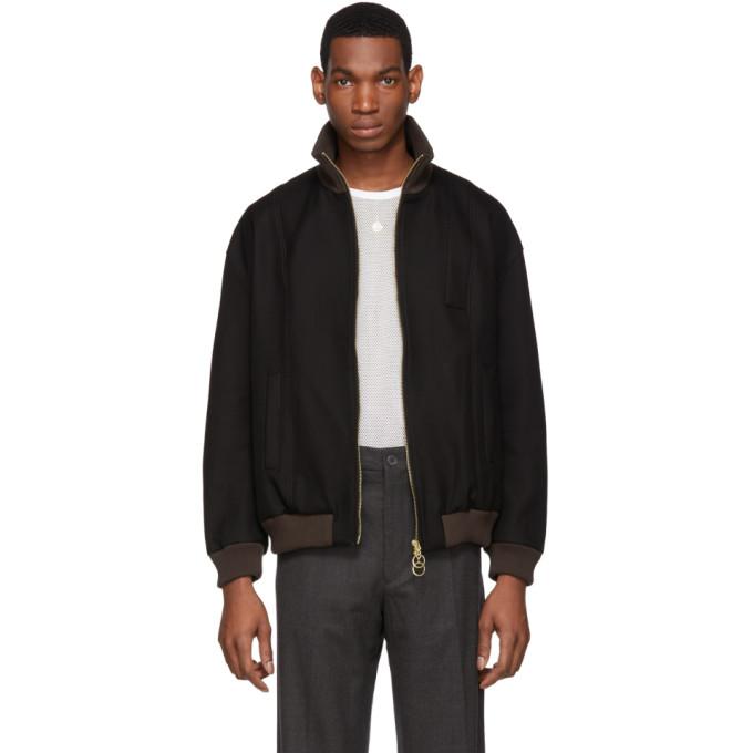 Image of St-Henri SSENSE Exclusive Black Denim Guillaume Bomber Jacket