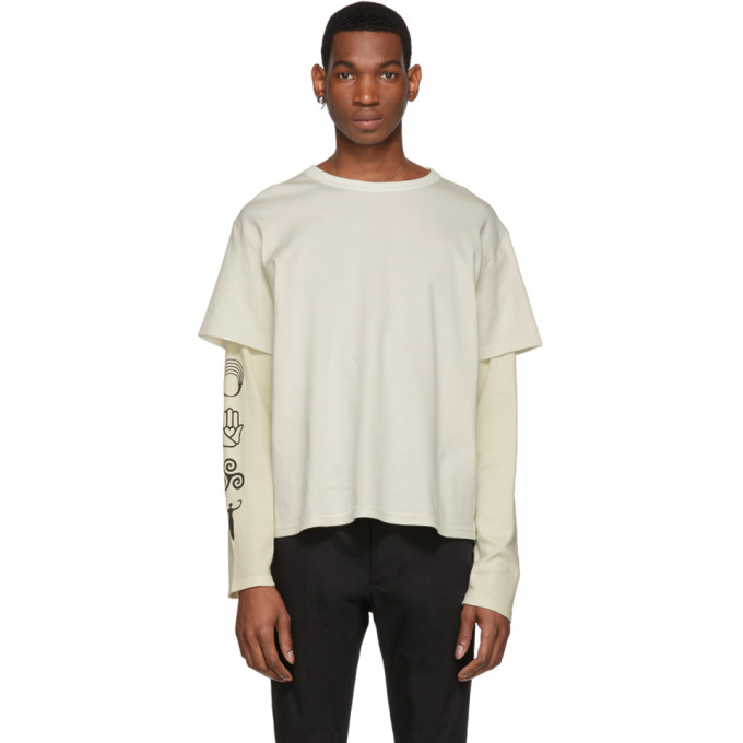ST-HENRI St-Henri Ssense Exclusive Beige Community Long Sleeve T-Shirt in Natural