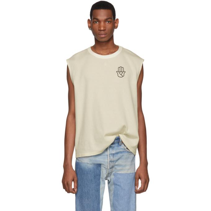 Image of St-Henri SSENSE Exclusive Beige Peace T-Shirt