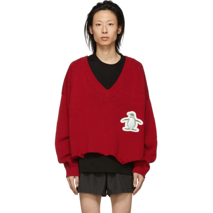 Doublet Pull rouge 3D Patch Cut-Off