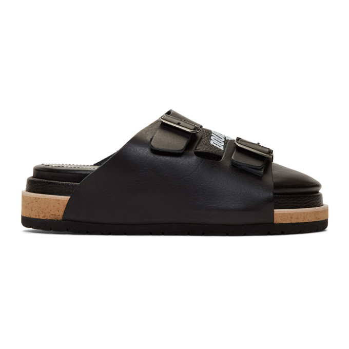 Image of Doublet Black Three-Layered Sandals