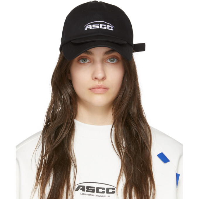 ADER error SSENSE Exclusive Black ASCC Double Brim Cap thumbnail
