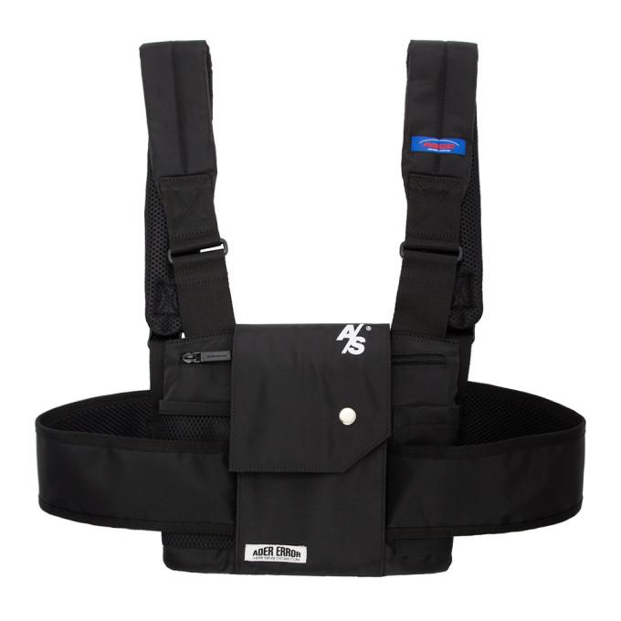 ADER error SSENSE Exclusive Black ASCC Waistcoat Design Sports Backpack