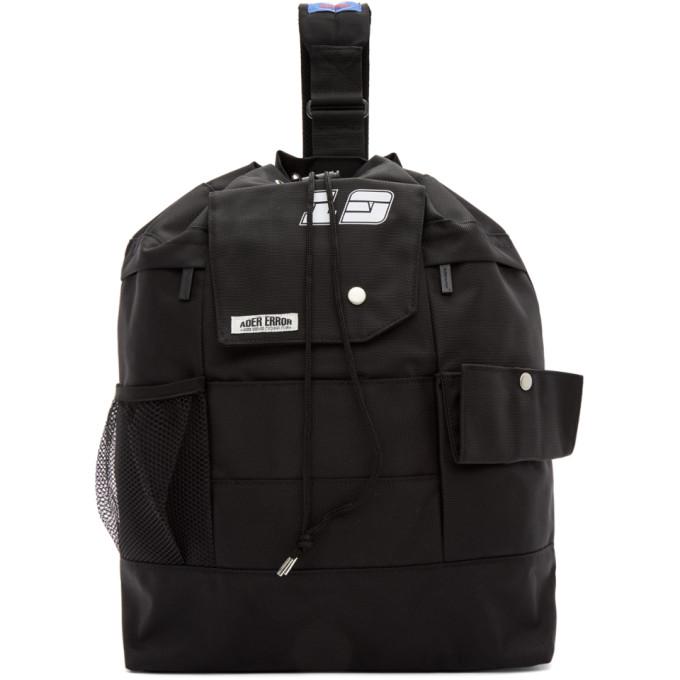 ADER error SSENSE Exclusive Black ASCC Single Strap Backpack thumbnail