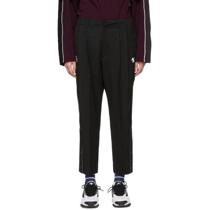 ADER error SSENSE Exclusive Black ASCC Knife Pleated Trousers thumbnail
