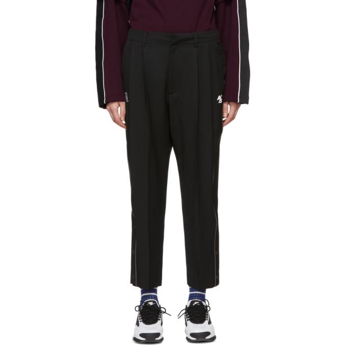 ADER error Pantalon a plis plats noir ASCC exclusif a SSENSE