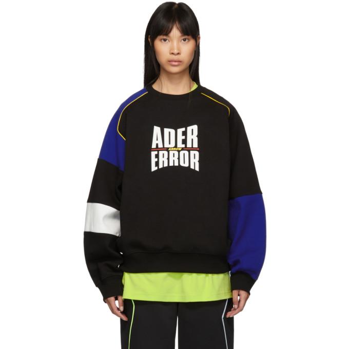 ADER error Black and Blue Form Logo Sweatshirt thumbnail