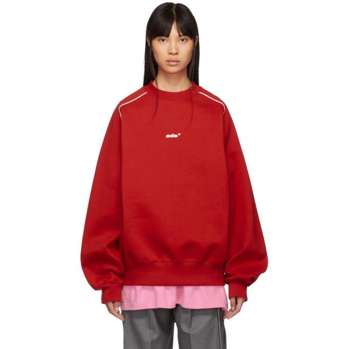 ADER error Red Thunder Sweatshirt thumbnail