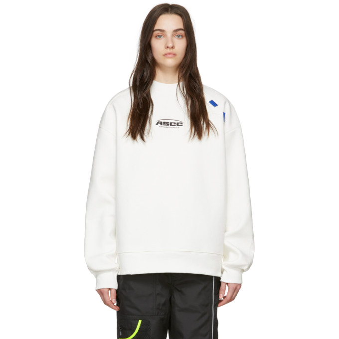 ADER error SSENSE Exclusive Off-White ASCC Unbalanced Yoke Sweatshirt thumbnail