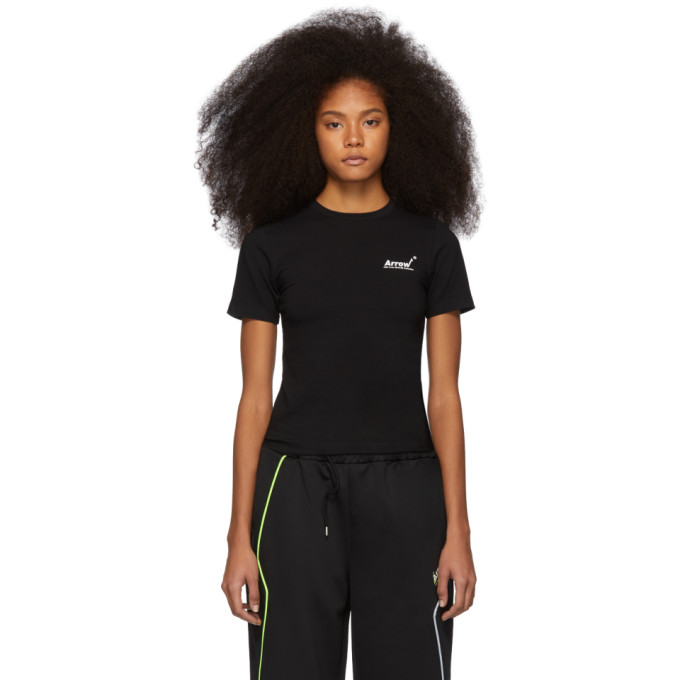 ADER error Black Tight Arrow T-Shirt thumbnail