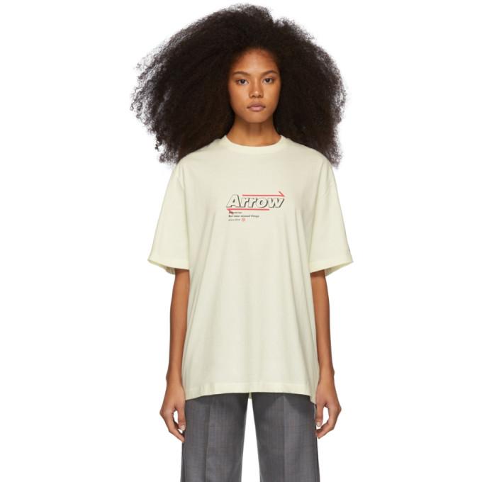 ADER error Off-White Arrow Print T-Shirt thumbnail