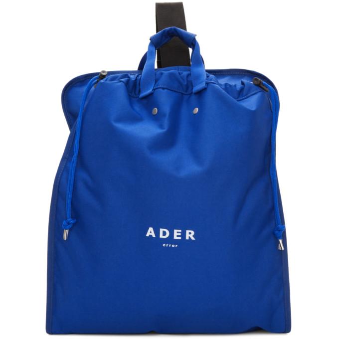 ADER error Blue Suitcase Backpack