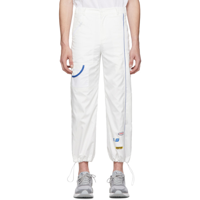 ADER error Pantalon de survetement surdimensionne blanc ASCC exclusif a SSENSE