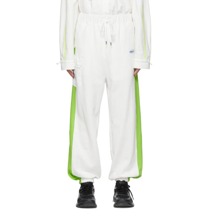 ADER error Pantalon de survetement blanc casse Jogger ASCC exclusif a SSENSE