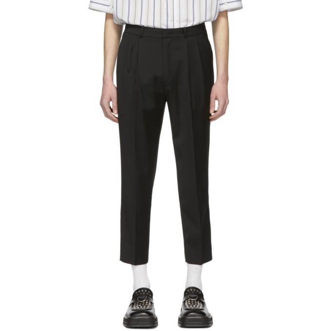 Image of ADER error Black Cropped Cinder Trousers