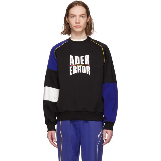 Image of ADER error Black & Blue Form Logo Sweatshirt