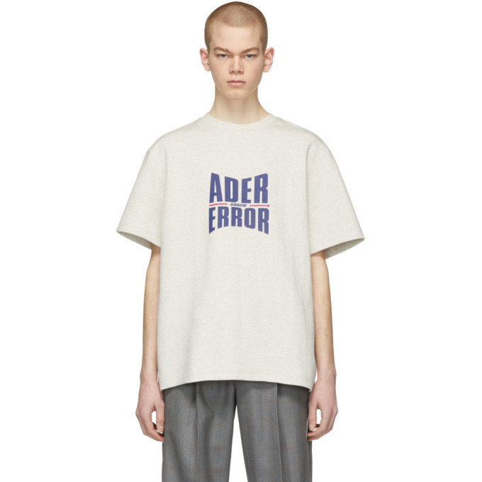 Ader Error T-shirts ADER ERROR BIEGE FORM LOGO T-SHIRT