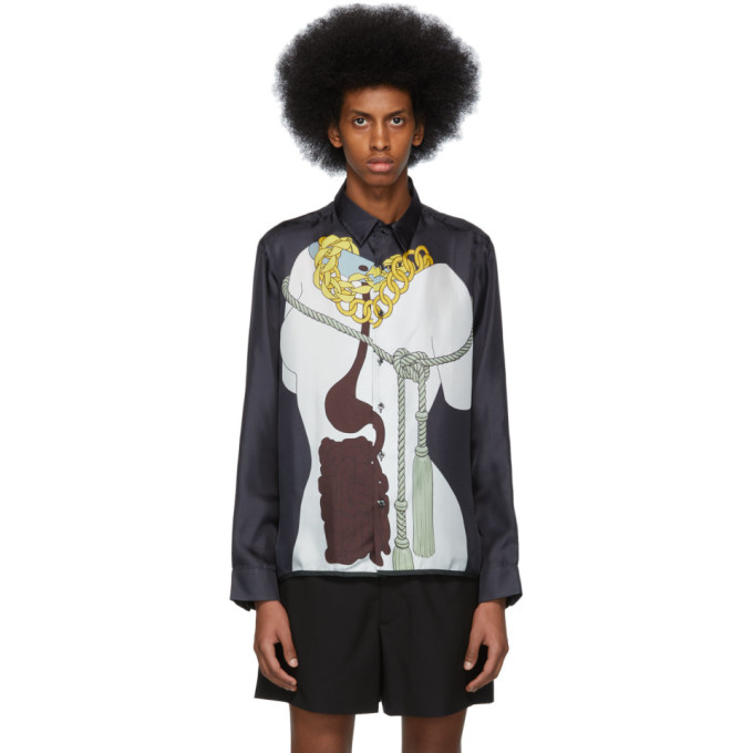 Image of Daniel W. Fletcher Grey Silk Caitlin Keogh Shirt