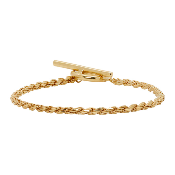 ALL BLUES All Blues - Rope Chain Gold Plated Bracelet - Mens - Gold