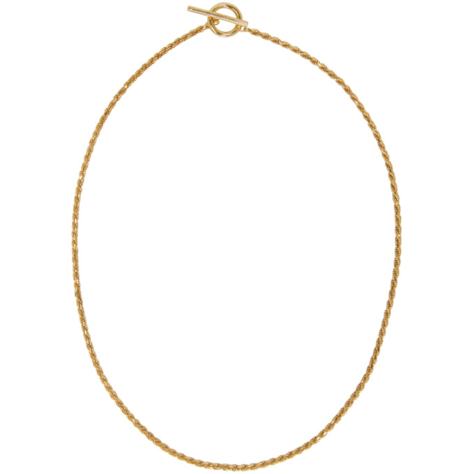 Image of All Blues Gold Rope Necklace