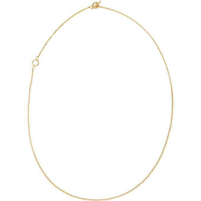 Image of All Blues Gold String Necklace