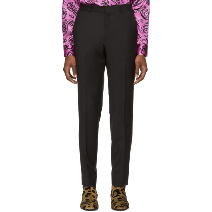 Image of SSS World Corp Black Bad Straight Trousers