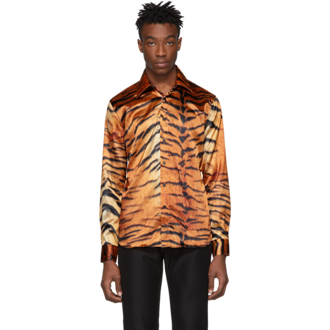 SSS World Corp Chemise brune Tiger