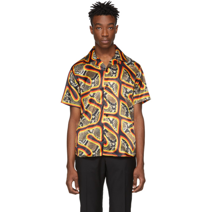 SSS World Corp Chemise hawaienne multicolore Snake