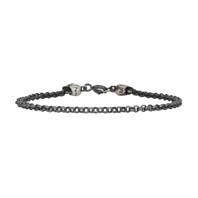 Ugo Cacciatori Silver Tiny Jail & Skulls Bracelet