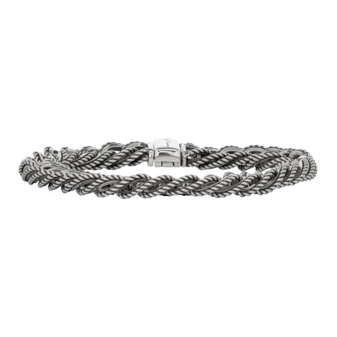 Ugo Cacciatori Silver Fine Chain & Cable Bracelet