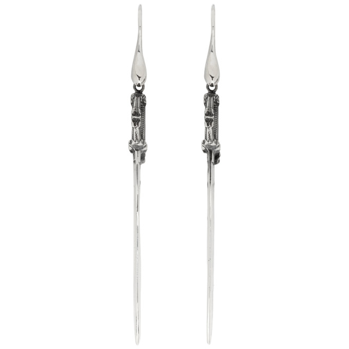 Ugo Cacciatori Silver Small Saber Earrings