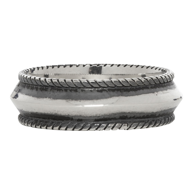 Ugo Cacciatori Silver Round Band Ring