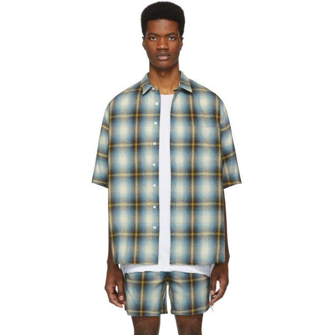 Image of Adaptation Blue & Yellow Plaid Shirt