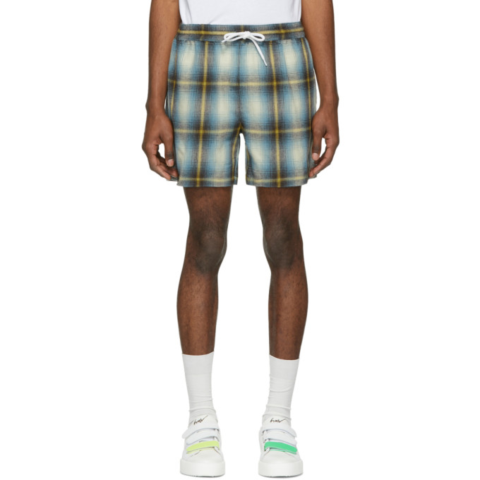 Image of Adaptation Blue & Yellow Plaid Shorts