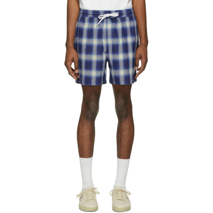 Image of Adaptation Blue Plaid Shorts