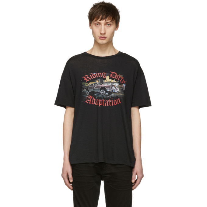 Image of Adaptation Black 'Riding Dirty' T-Shirt