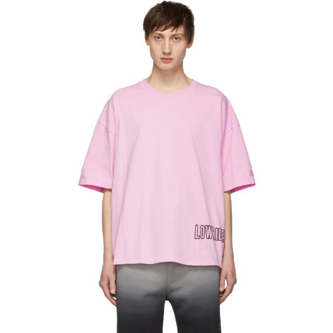 Adaptation T-shirt surdimensionne a logo rose