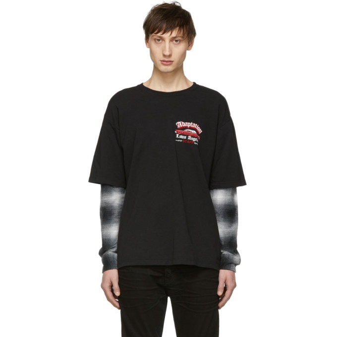 Image of Adaptation Black 'Black Out' T-Shirt