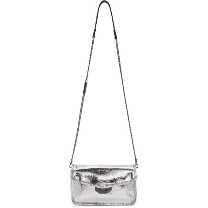 rag & bone Silver Crackle Field Clutch