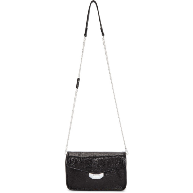 rag & bone Black Crackled Field Clutch