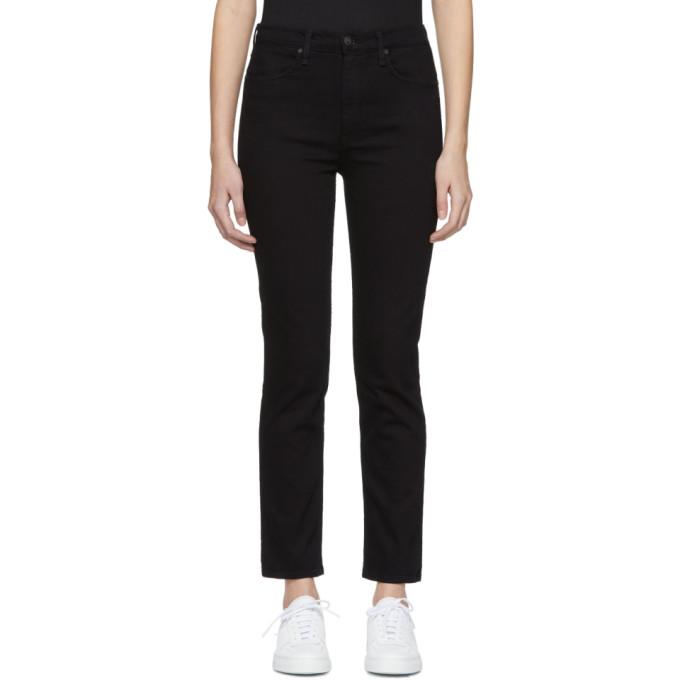 Rag & Bone Black High Rise Ankle Skinny Jeans