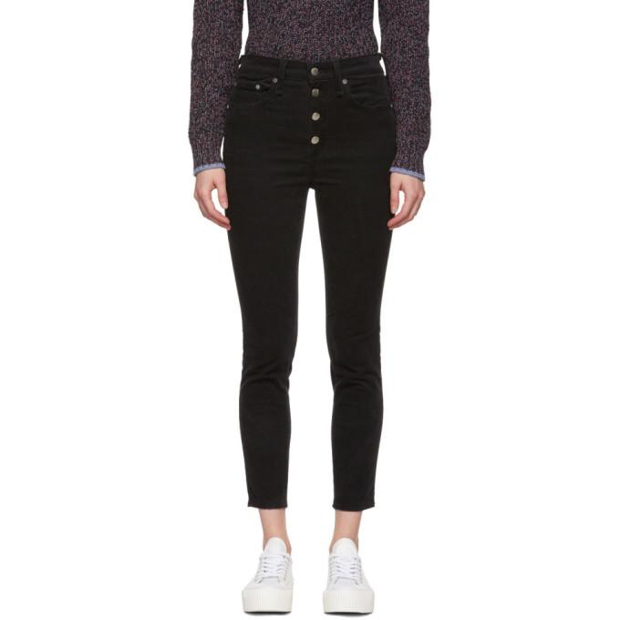 Rag & Bone Black Corduroy Rosie Ankle Skinny Jeans