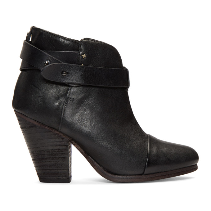 rag and bone Black Harrow Boots