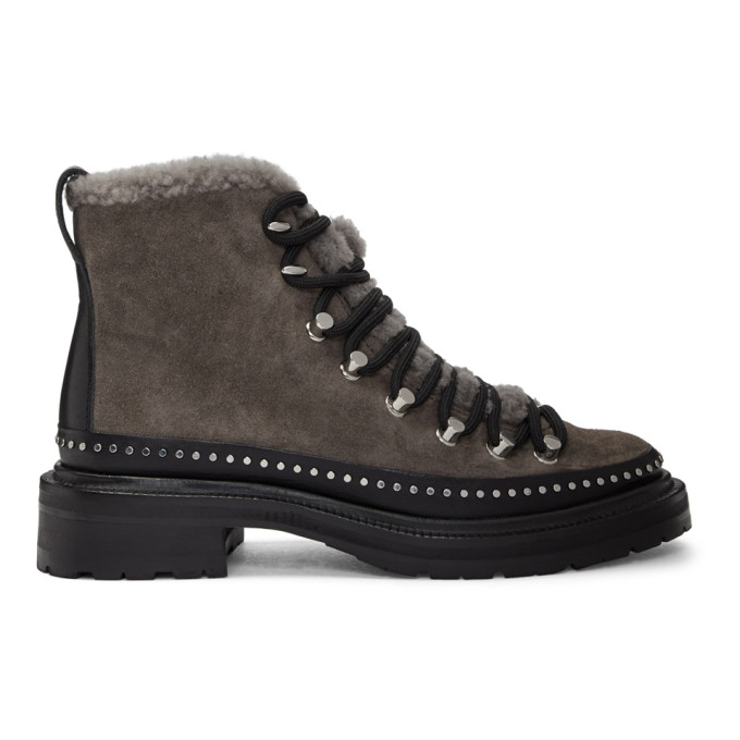 rag & bone Grey Suede Compass Boots