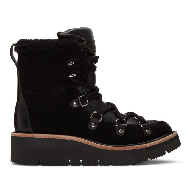 rag & bone Black Shearling Skyler Boots