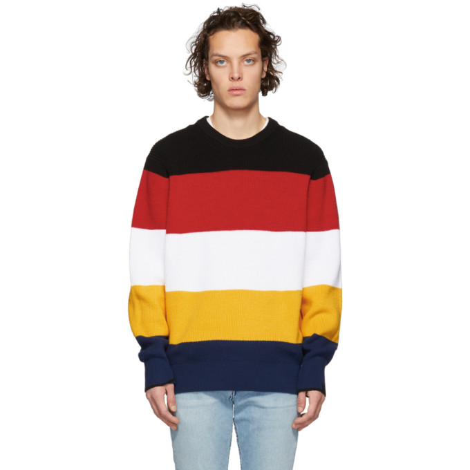 Rag And Bone Multicolor Kirke Sweater in Navy/Red