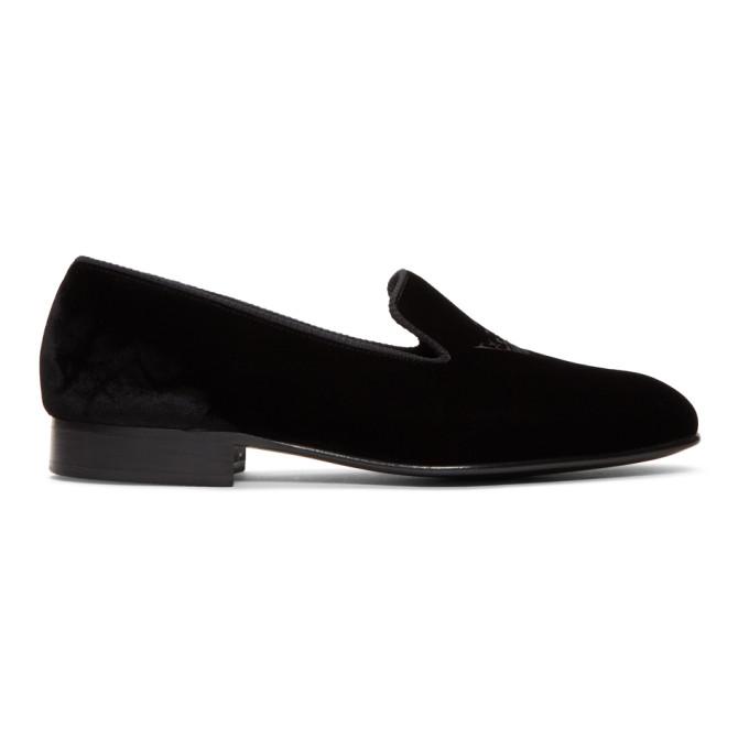 Image of Church's Black Velvet Sovereign 2 Slippers
