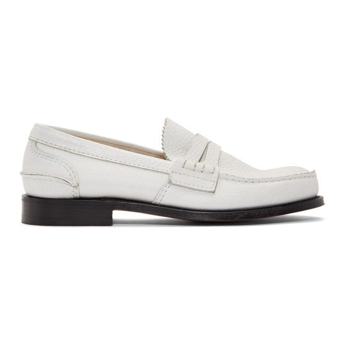 Image of Church's White Pembrey Loafers