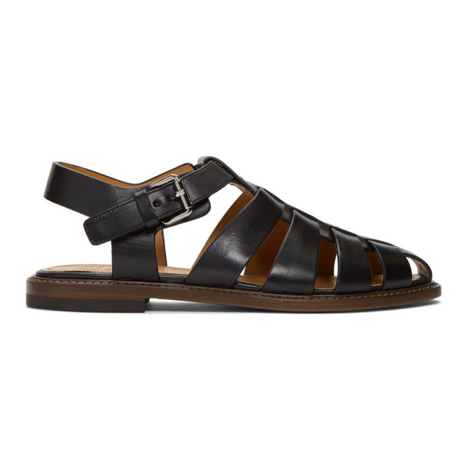 Image of Church's Black Barney Sandals
