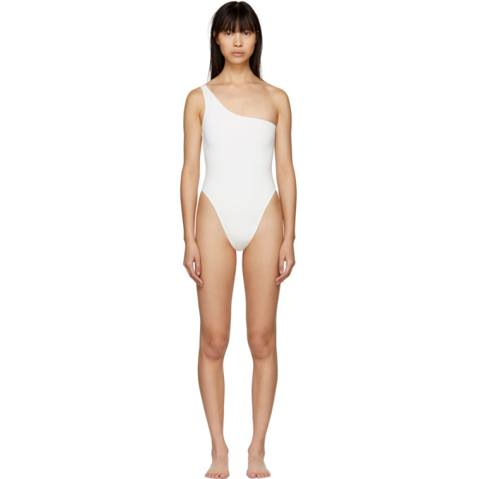 MYRASWIM Myraswim White Rhoads One-Piece Swimsuit in Vanilla